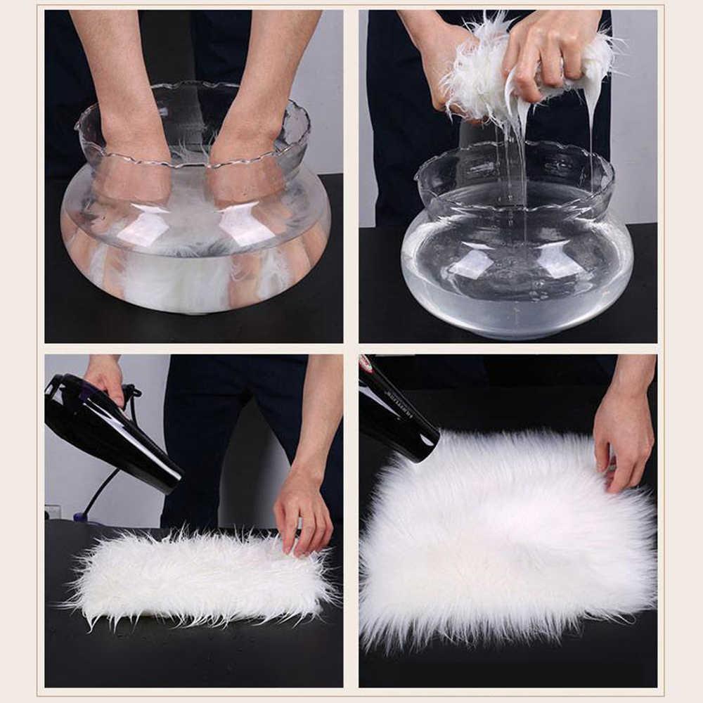 สี่เหลี่ยมผืนผ้า Soft Faux Sheepskin พรมชั้นพรม Silky Plush พรมสีขาว Faux FUR พรมข้างเตียงพรมสำหรับห้องนอน