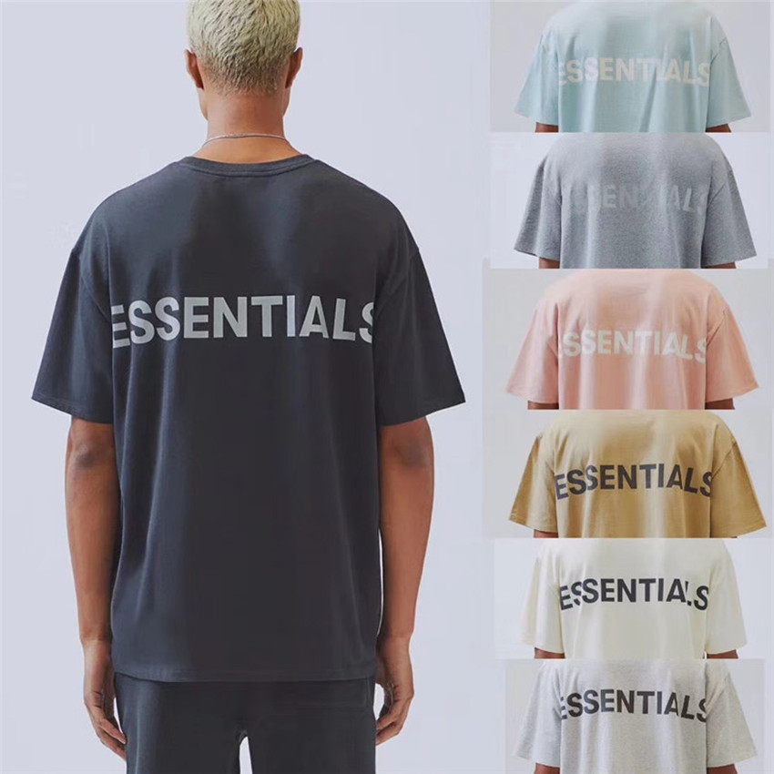 High Street Essentials Boxy FOG TEE 3M T Shirt Men Wome Casual Cotton Big Patch Tag Embroidery Essentials T-shirts Top Tees