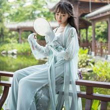Alte Traditionellen Tanz Kostüme Hanfu für Frauen Chinese Folk Stickerei Fee Kleid Floral Tang-dynastie Cosplay Leistung(China)