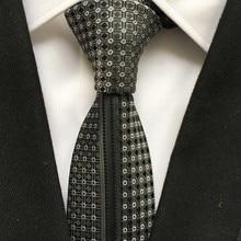 Уникальный тонкий галстук мужской повседневный черный с серебряным галстуком высокого качества тканый
