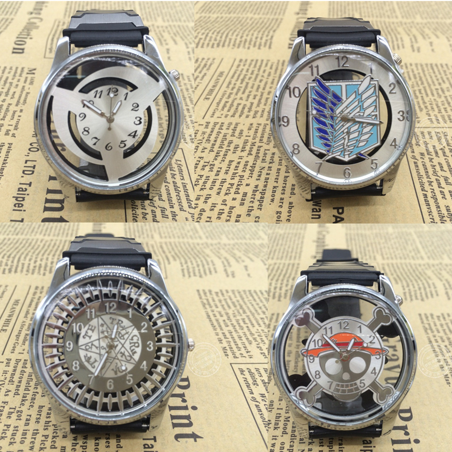 Cartoon Toy Attack on Titan /Black Butler /Naruto /One Piece Watch Anime Gift Collection Action Figure Model