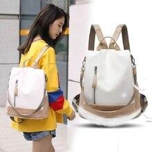 Women Backpack travel PU…
