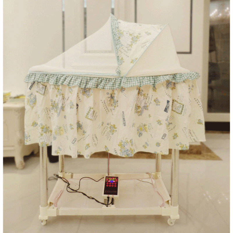Up And Down Rocking Electric Baby Cradle Bed, Automatic Baby Bed With Music Cradle