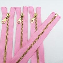 10 pces de 5 # metal de bronze aberto 30-60cm (12-24 polegadas) costura zíper 20 cores