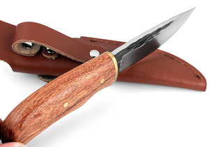Image 4 - KKWOLF شفرة مثبتة حادة جدا سكين عالية الكربون الصلب روزوود مقبض سكين صيد بقاء التكتيكية جيب سكين أدوات التخييم
