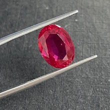 Owalny krój 12 × 9mm 1 sztuka worek 6 karatów ciemno czerwony sztuczny rubin Lab stworzony rubinowy kamień szlachetny do tworzenia biżuterii tanie tanio meisidian GDTC Grzywny RUBY