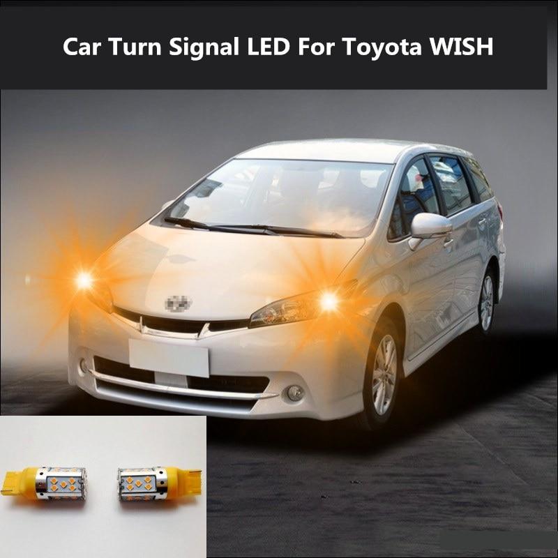 Car Turn Signal LED Command light headlight modification For Toyota WISH 2008-2019 12V 10W 6000K 2PCS