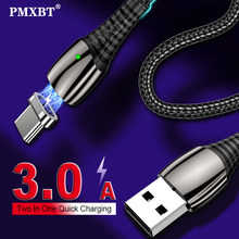 3A Magnetic Cable Fast Charging Micro USB Type C Cable For Samsung S9 Android Magnet Charger Type-C Cable Cord For iPhone Xiaomi(China)