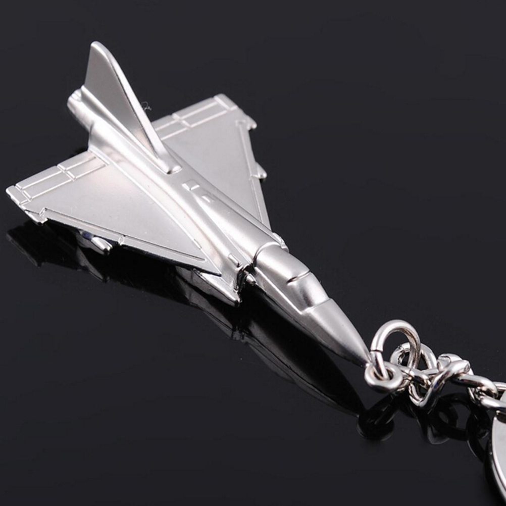 1Pc 9cm Airplane model Modern Combat Aircraft Plane keyring high quality keychain Key Chain Key Ring Key Holder image