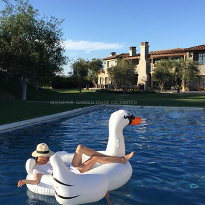 Inflable swan gigante flotante rideable piscina juguete flotador balsa 190cm para adultos y niños