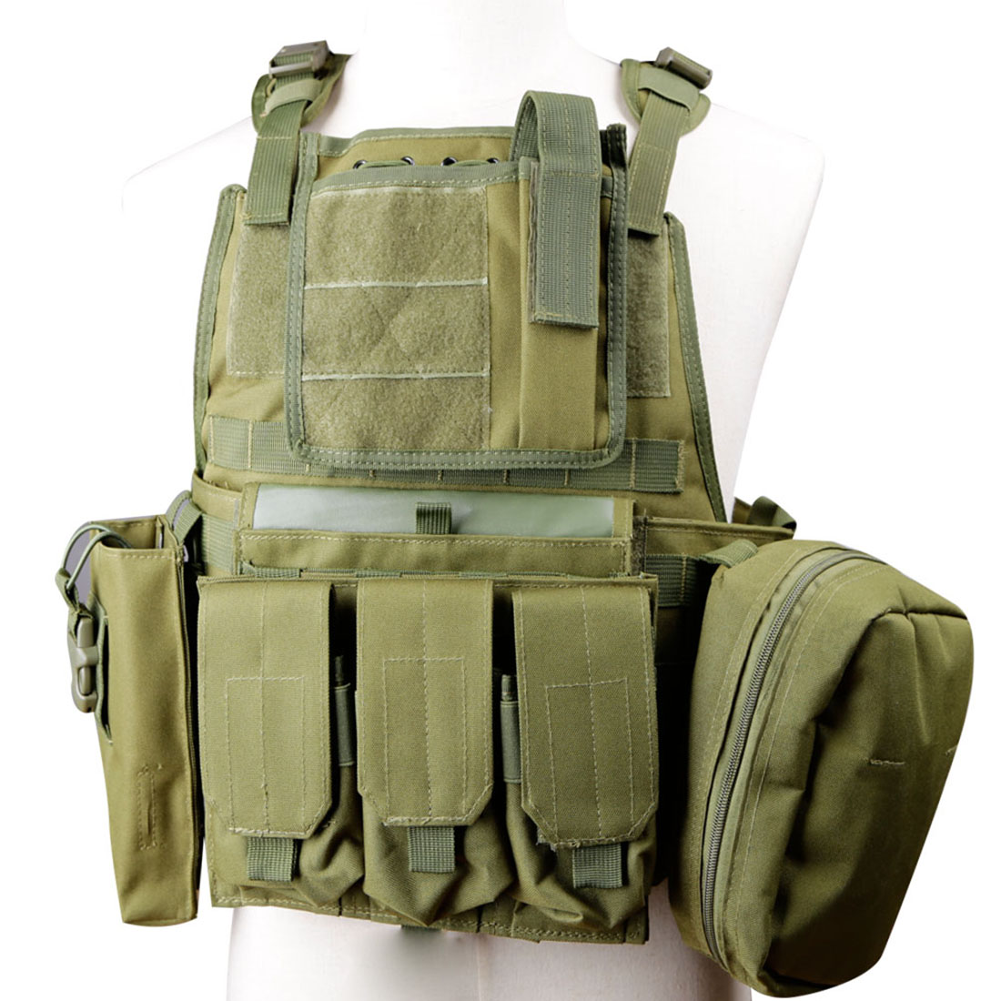 Vest Hunting Shooting Safety Vest Molle Military Quick Release Tactical Vest Adjustable Outdoor Airsoft Paintball Protective