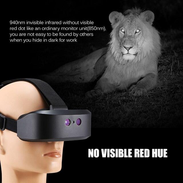 ראש הר ראיית לילה היקף דיגיטלי לילה ראיית משקפת 60M בחושך קרוב אינפרא אדום הפנס ציד