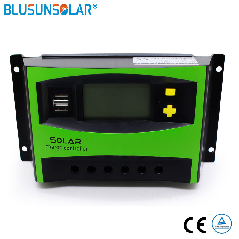 20A-60A 12/24V MPPT LCD Display Solar PV Charge Regulators PWM Solar Charger Controller Dual USB Solar Charge Controller