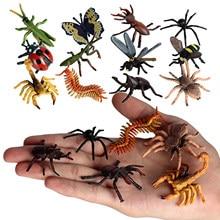 Figuras de insectos de plástico, 12 Uds.