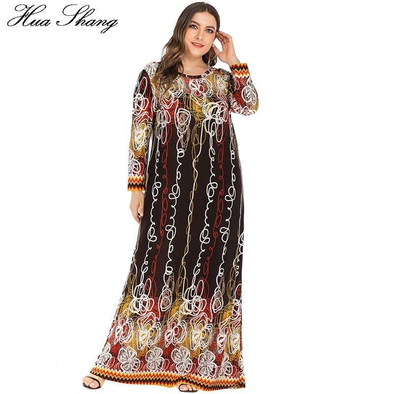 6XL Plus Size Muslim Dresses And Abaya For Women Long Sleeve Loose Oversized Maxi Long Dress Dubai Turkish Islamic Clothing