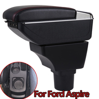 For Ford Aspire Armrest Box Aspire Universal Car Central Armrest Storage Box cup holder ashtray modification accessories