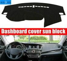 For Kia Cadenza K7 Car Dashboard Cover 2010 2011 2012 2013 2014 2015 2016 Dash Mat Pad Carpet Dashmat Sun Shade Pad Car Styling стоимость