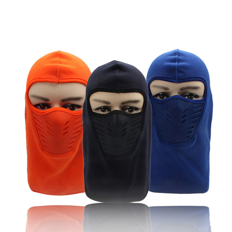 1pc Winter Warm Print Breathable Balaclava Face Mouth Mask Man Women Unisex Outdoor Cycling Mask Black Mask Mouth Head Cover