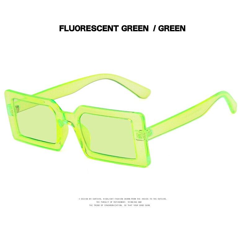 Fashion Sunglasses Designer Luxury Brand Rectangle Sunglasses Women Vintage Small 2021 trend Female Sun Glasses Shades For Women (11)