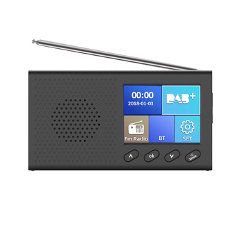 Digital DAB&FM Radio with BT Portable and Rechargeable Wireless Radio with Stereo Speaker Sound System LCD Display Backlight фото