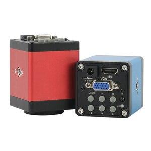 Image 5 - 14MP 1080P HDMI VGA Microscopio Video Digitale Della Macchina Fotografica Industriale C mount Per Il Telefono PCB Saldatura di Riparazione