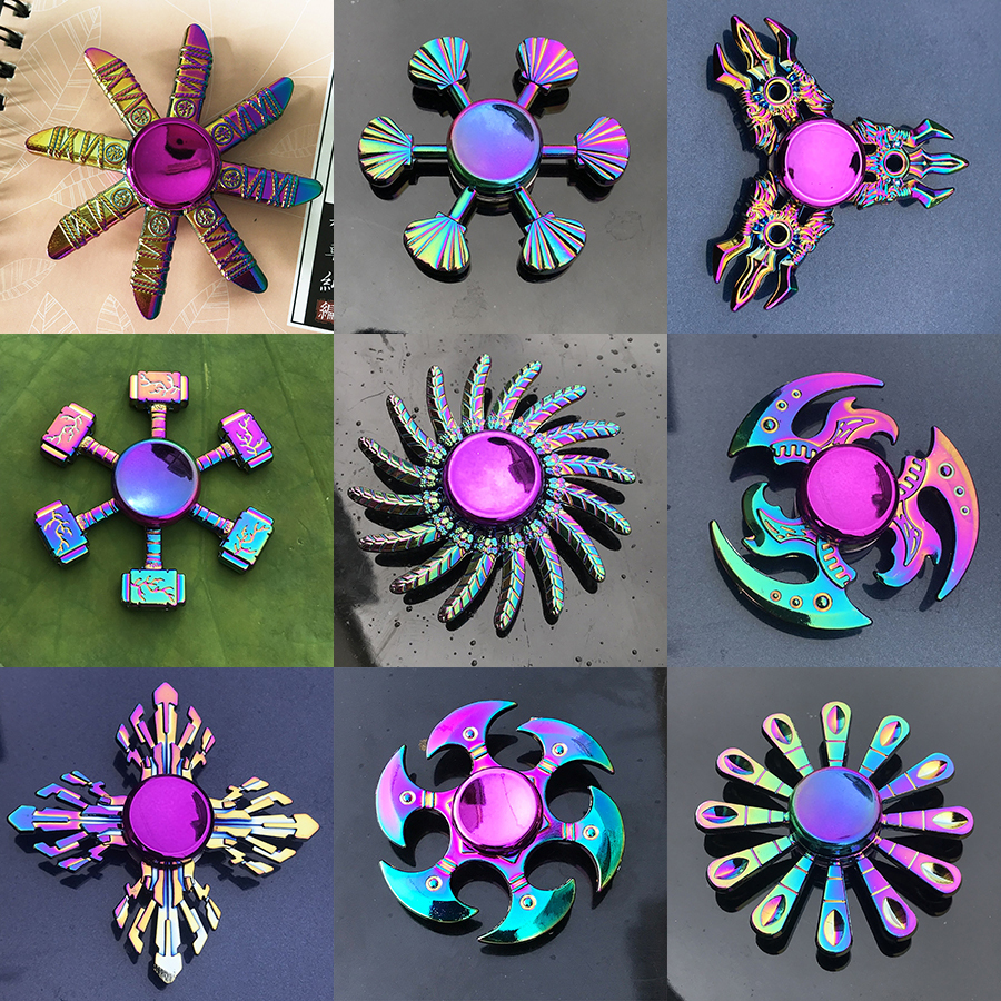 Hand-Spinner Fidget Metal-Bearing Stress Edc Hand-Relieves Zinc-Alloy Milti-Color