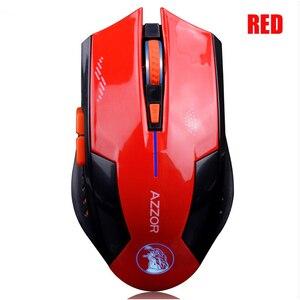 Image 3 - AZZOR Carica Silenzioso Pulsante Mute Mouse Senza Fili Noiseless Gaming Mouse Ottico 2400dpi Built in Batteria Per PC Del Computer Portatile del Computer
