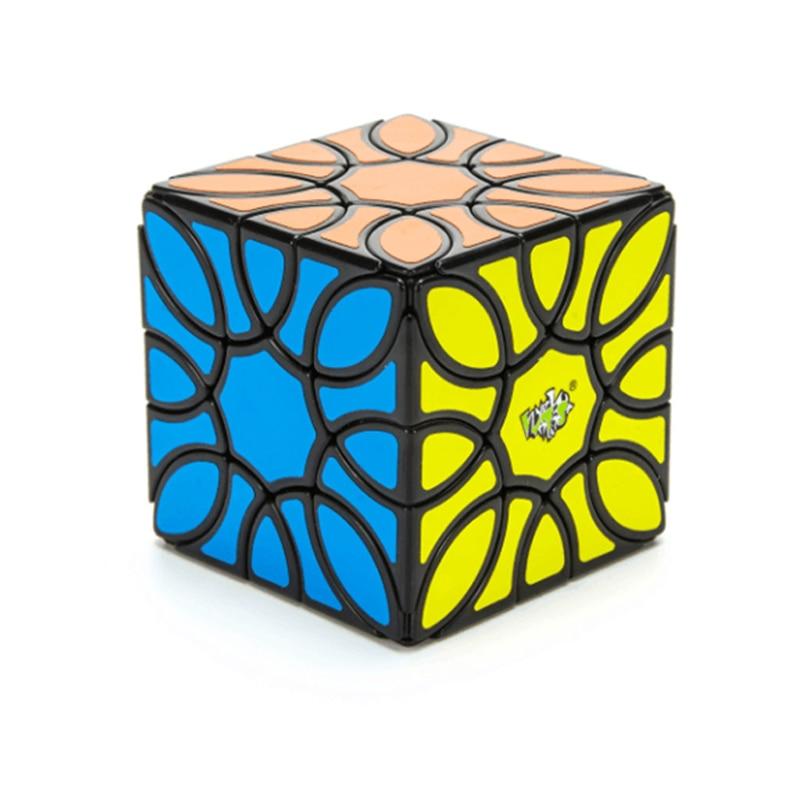 Lanlan girassol cubo mágico 3x3 velocidade adesivos adesivo cubo mágico mágico mágico quebra-cabeça do bebê crianças brinquedos