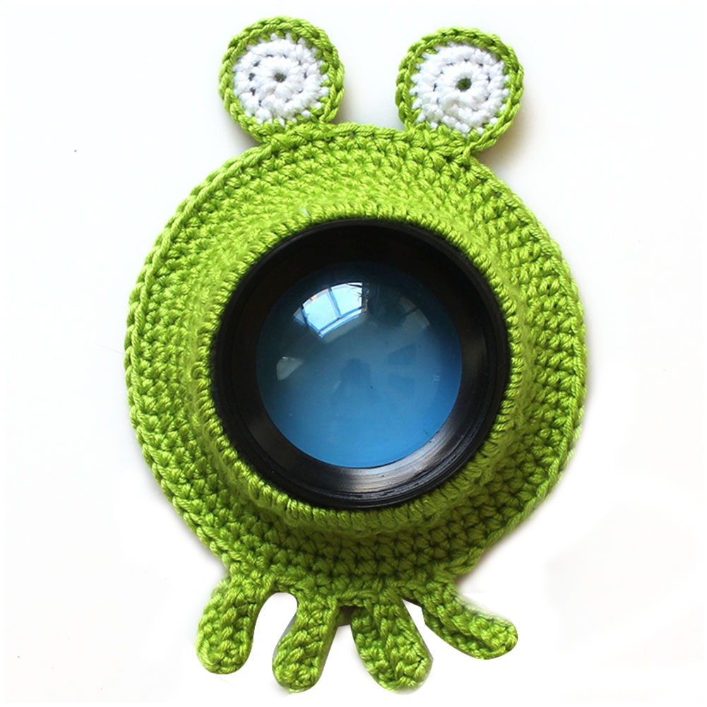 Child Shutter Hugger Pet Camera Buddies Photography Props Cute Animal Teaser Toy Kid Knitted Posing Handmade Lens Accessory