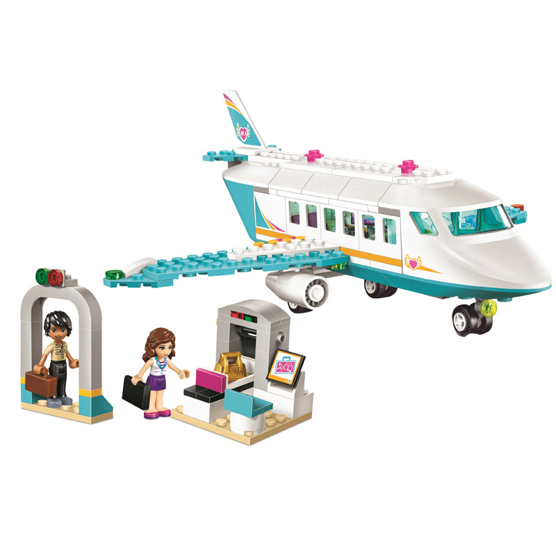 Girl Friends Series SY807 Heartlake Private Jet Building Block Plane Brick Olivia Matthew Compatible Legoinglys 41100 Toys Gifts