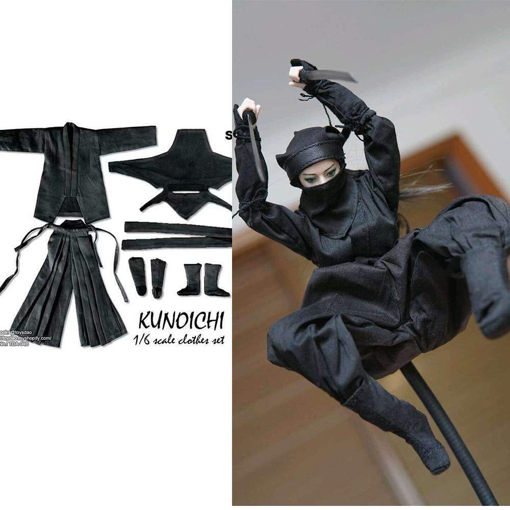 1//6 DOLLSFIGURE CC50 Female Japanese Ninja Clothes Fit 12/'/' Action Figure