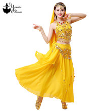 11 Colors 3 Pieces/Set Stage Performance Costume Women Adult Belly Dance Costume Skirt Set Red Black Indian Dress Hip Scarf 2020
