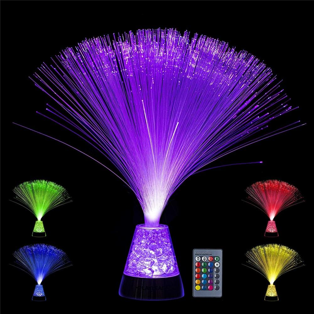 Novelty Autism Calming Relaxing LED Light Lamp Multi-color Fiber Optic Cube Color-changing Atmosphere Lamp