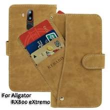 Couro do vintage carteira alinhador rx800 extremo caso 5.7