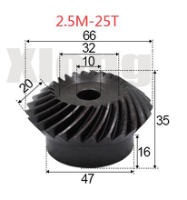 2pcs 2.5M-25Teeths Inner Hole: 10mm Precision Spiral Bevel Gear Spiral Bevel Gear стоимость
