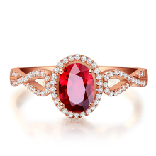 925 silver rings for women red gem crystal Micro Inlay cubic zirconia adjustable ring wedding engagement ring jewelry accessorie