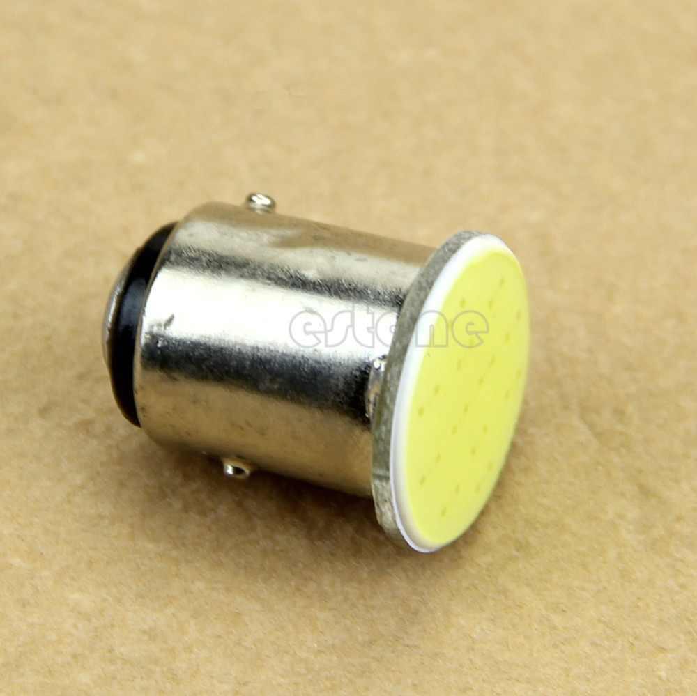 1 piezas nueva señal lámpara Super brillante blanco 12V 12V 1157 BAY15D 12 SMD COB coche blanco lámpara de señal de freno luz de estacionamiento bombilla