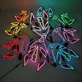 Hot Sales Led Mask Halloween Party Masquerade Masks Luminous EL Neon Maske Mascara Horror Mask Fox Mask Anime Cosplay
