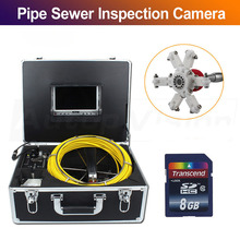 Endoscpe video inspection 7D1 20M Free DHL Shipping Pipe Drain Sewer Inspection camera waterproof 65ft 20M drain industral 30m drain endoscope pipe inspection camera pipe sewer camera waterproof pipe plumbing camera 12pcs white lights nightvision