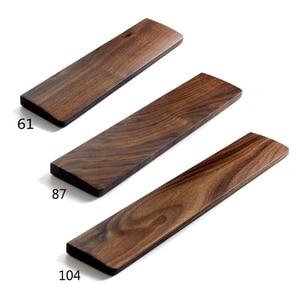 Image 1 - Repose poignet de clavier mécanique en bois de noyer avec tapis anti dérapant Support de poignet de bureau de jeu ergonomique 61 87 104 touches