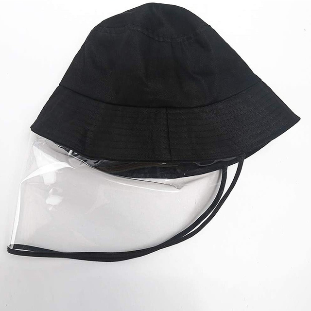 Face Shield Anti-Spitting Hat, Safety Face Shields Anti-Saliva Protective Cap Cover Dustproof Cover Outdoor Fisherman Hat Mask 1