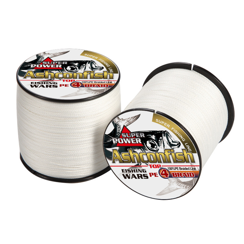 500M White color PE fishing line Japan Multifilament Braided Fishing Line 4x braided wire super sea fishing ropes cords tools japan multifilament fishing line braided fishing line - title=