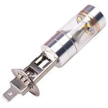 1pc h1 h3 h7 h4 100w led branco 12-24v 20 smd projetor farol nevoeiro condução luzes drl bulbo 6000k caminhão sistema de luz carro