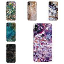For Huawei Honor Nova Note 5 5I 8A 8X 10 Pro 9X For Moto G G2 G3 G4 G5 G6 G7 Plus TPU Print Case Grunge Art Marble Paint(China)
