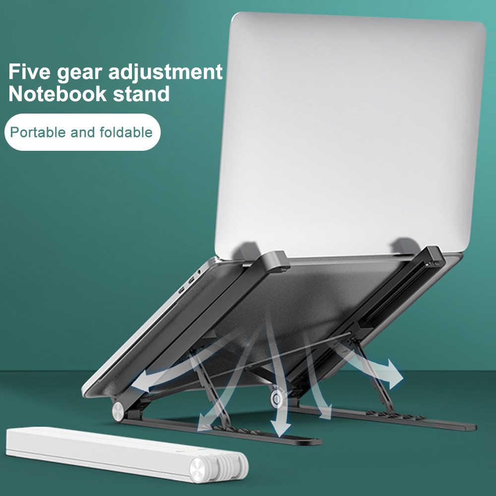 حامل الكمبيوتر المحمول طوي plasticألومنيوم سبيكة محمول حامل قوس لماك بوك برو دفتر حامل الكمبيوتر المحمول لأجهزة الكمبيوتر المحمول