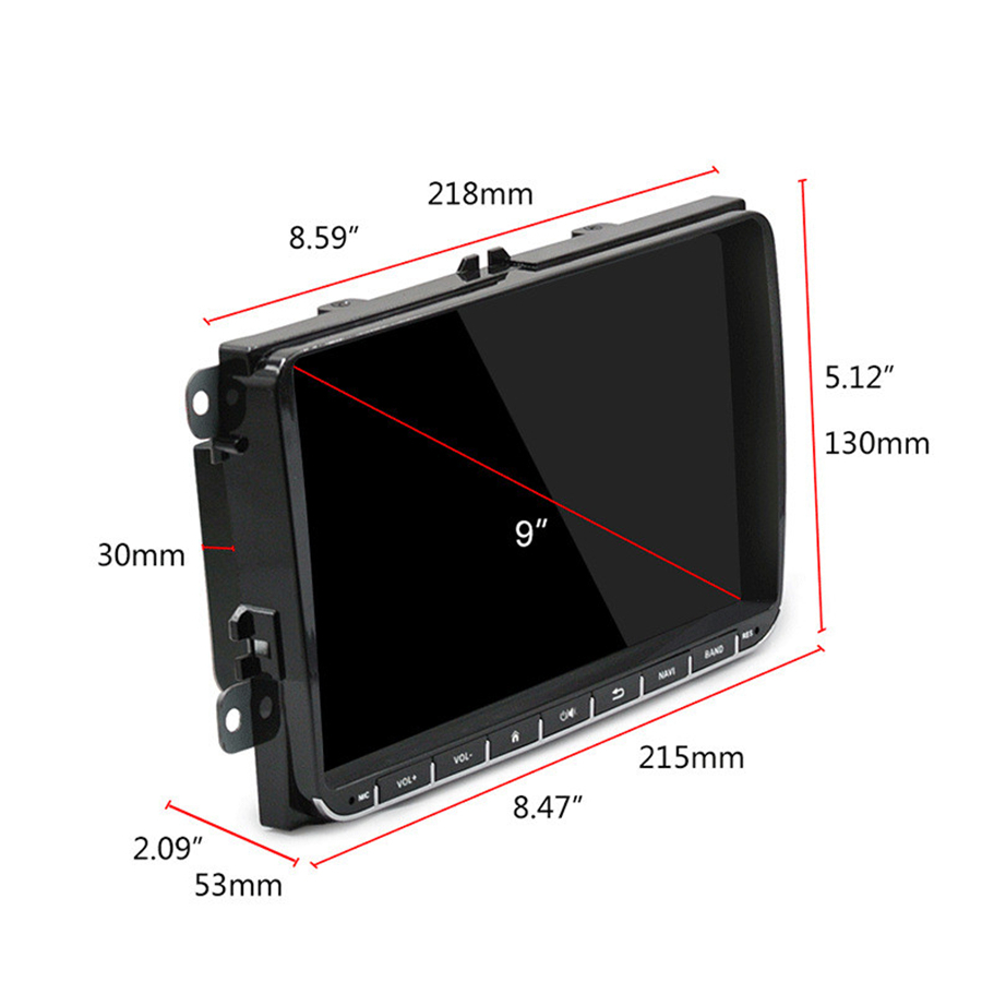 9 Android 9.1 Auto radio GPS Navigation RAM 1GB ROM 16GB Auto Stereo für VW Skoda Octavia golf 5 6 touran passat B6 jetta polo - 2