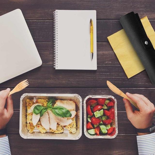 6 Pcs Tableware Natural Eco-Friendly Bamboo Wood Fork Spoon Cutlery Set Cutlery Tableware Dinnerware Sets 6