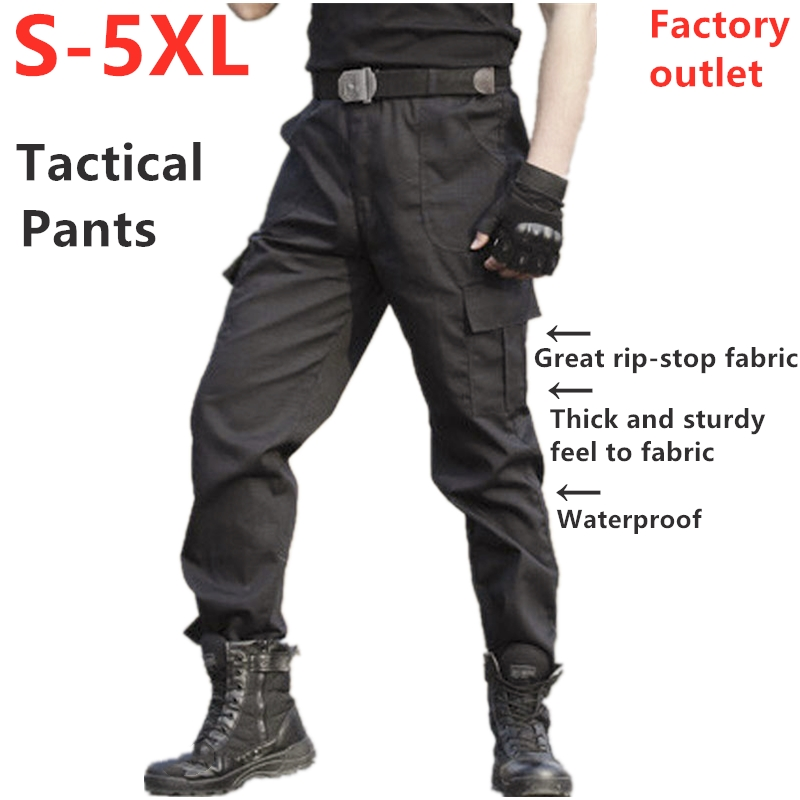 Men's Tactical Pants Military Style 5XL Black Brand Men's Pants Factory Sales Waterproof Rip-stop High Quality Fabric Cargo Pant