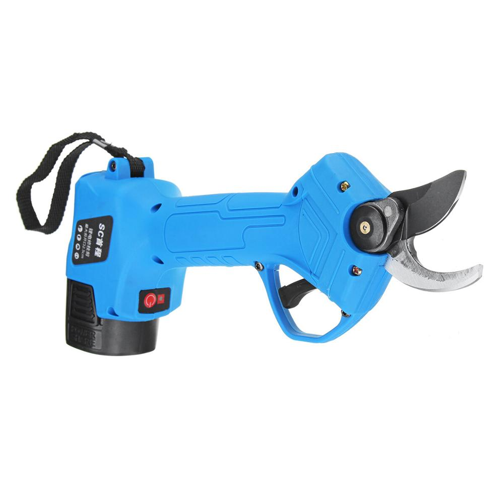 Tools : ALLSOME 16 8V Wireless 25mm Rechargeable Electric Pruning Shears Scissors Branch Tree Cutting Trimming Tools with TWO Batteries