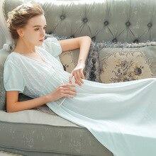 Roseheart Frauen Rosa Blau Sexy Nachtwäsche Nacht kleid Spitze Backless Homewear Nachtwäsche Luxus Nachthemd Weibliche Kleid